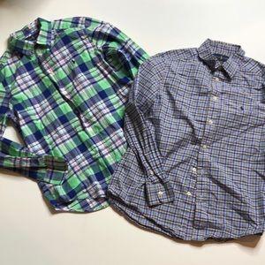 Ralph Lauren Boys Dress Shirts Bundle of 2 size 14